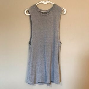 Truly Madly Deeply -Soft Grey Muscle Tank